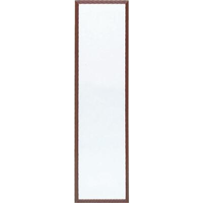 Home Decor Innovations Suave 13 In. x 49 In. Walnut Brown Plastic Door Mirror