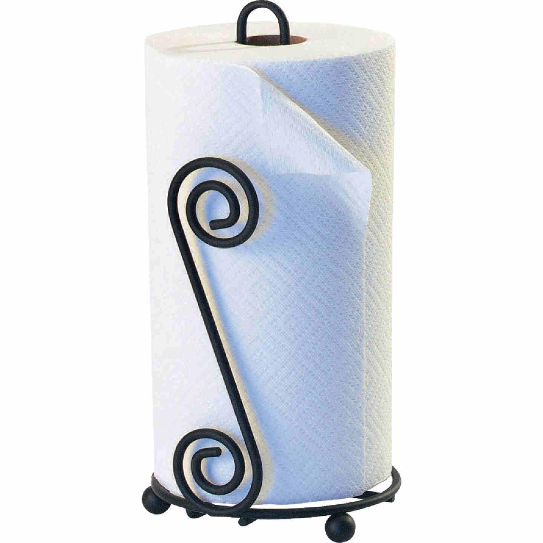 Spectrum Elegant Scroll Countertop Portable Paper Towel Holder Image 1