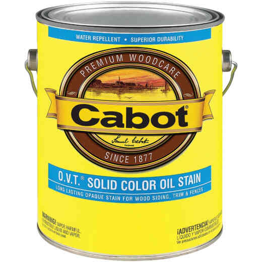 Cabot O.V.T. Solid Color Oil Exterior Stain, Medium Base, 1 Gal.